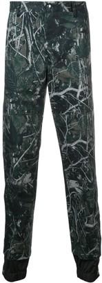 Lanvin Printed Double Hem Trousers