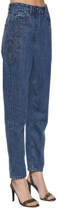 Etro Devon Embroidered Straight Leg Jeans