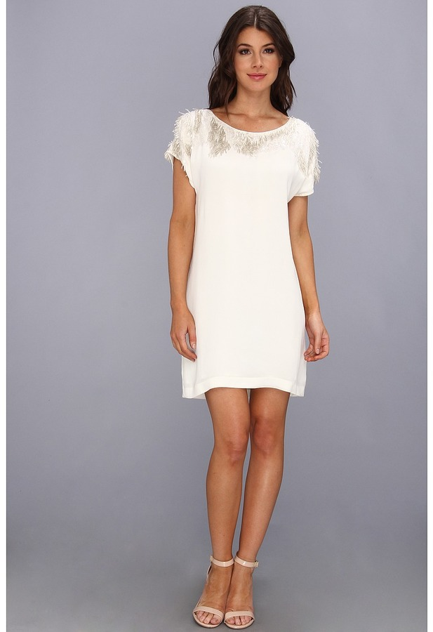 French Connection Icicle Storm Dress 71AQJ (Willow White) - Apparel