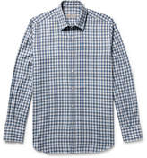 Canali Checked Cotton-Twill Shirt
