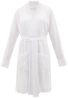 Skin Mrs-embroidered Cotton Bridal Robe And Nightdress - Ivory