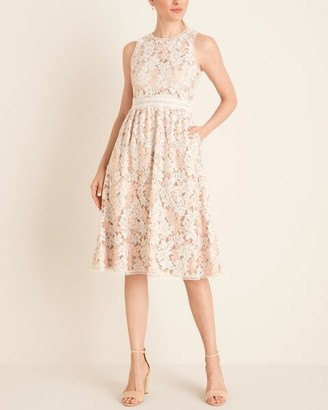 Vince Camuto Sleeveless Lace Midi Dress