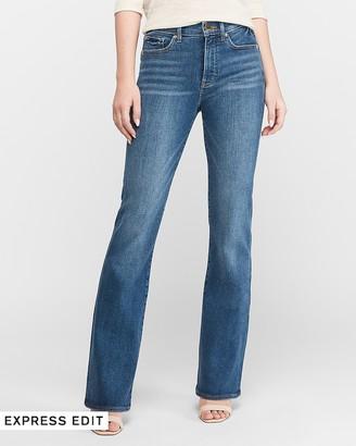 Express High Waisted Dark Wash Bootcut Jeans