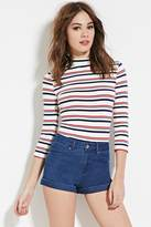 Forever 21 FOREVER 21+ High Rise Cuffed Denim Shorts