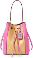 Lauren Ralph Lauren Color-Blocked Leather Debby Drawstring Bag