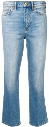 Tory Burch Faded Cropped Jeans