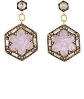 Cathy Waterman Women's Rustic-Sapphire Hexagon Drop Earrings