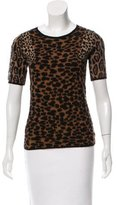 Burberry Patterned Cashmere Top