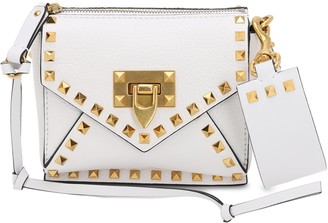 Valentino Mini Rockstud Hype Grained Leather Bag