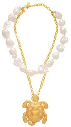 BEGÜM KHAN Tortuga Pearl And Gold-plated Pendant Necklace - Pearl
