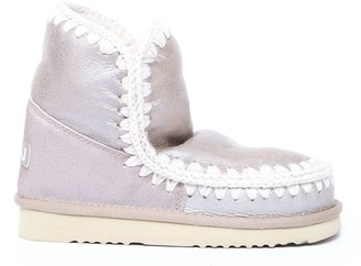 Mou Eskimo 18 Metal Pink Leather Ankle Boots