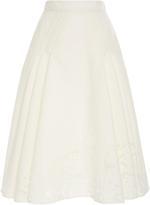 Zac Posen Transparent Jacquard Skirt