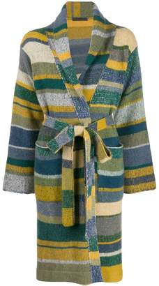 The Elder Statesman cashmere striped cardigan