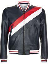 Thom Browne Leather Varsity Jacket