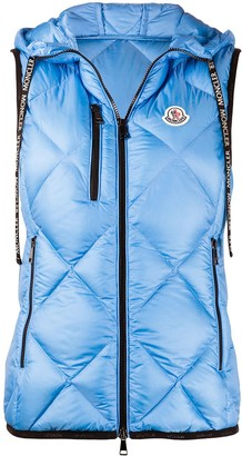 Moncler Logo-Patch Quilted Hooded Gilet