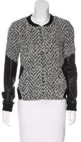 Thakoon Leather-Accented Zip-Up Jacket