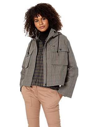 Obey Junior's Ollie Plaid Hooded Military Jacket