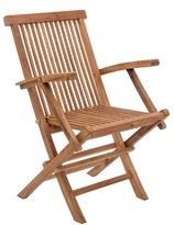 ZUO Regatta Outdoor Folding Dining Arm Chair with Natural Finish (Set of 2)