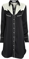 Paco Rabanne Western Satin Shirt Dress