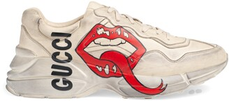 Gucci Men's Rhyton sneaker with mouth print