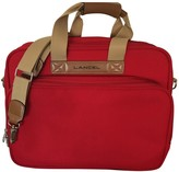 Lancel Red Cloth Travel bags