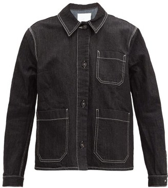 Ssōne Ssone - Craft Topstitched Organic Cotton-blend Jacket - Black
