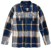 Volcom Boy's Heavy Daze Plaid Flannel Shirt Jacket