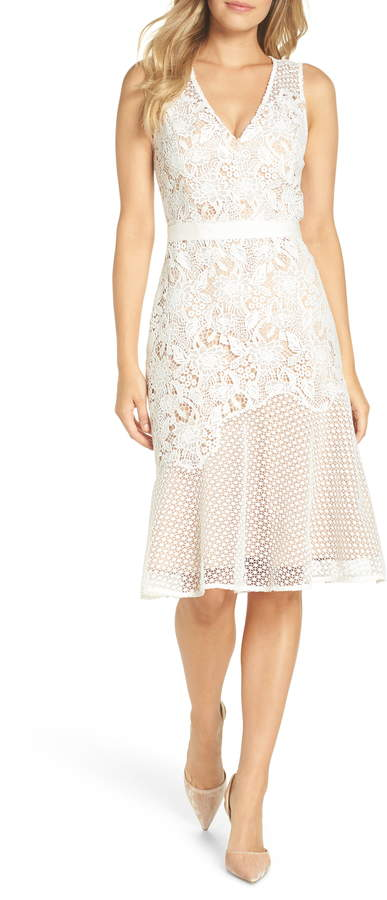 Adelyn Rae Lily Mixed Lace Dress