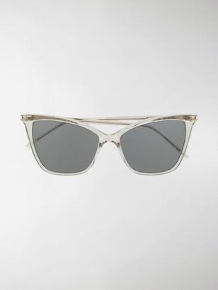 Saint Laurent SL 384 thin cat-eye sunglasses