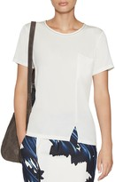 Halston Notched Tee