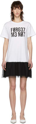 RED Valentino White Forget Me Not T-Shirt Dress