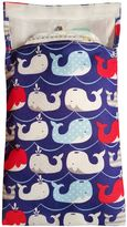 Tiny-Tote-Along Whales Diaper Bag in Purple