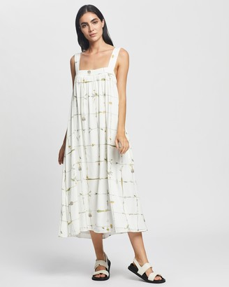 SANCIA Women's White Midi Dresses - The Saya Dress - Size XS at The Iconic