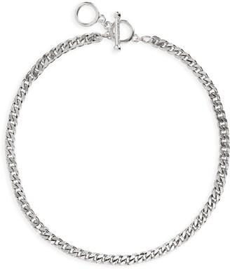 Karine Sultan Square Curb Chain Necklace