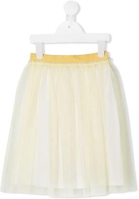 Il Gufo Tulle Pleated Skirt