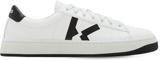 Kenzo Leather Sneakers W/ Logo Detail