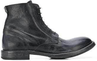 Moma Misnk vintage-effect ankle boots