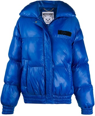 Moschino Teddy Bear short puffer jacket