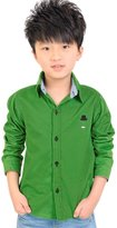 uxcell® Boy Long Sleeve Point Collar Button Closed Shirt Allegra Kids