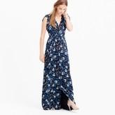 J.Crew Collection petal-sleeve gown in nightfall freesia