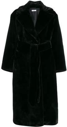 P.A.R.O.S.H. faux fur robe coat