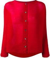Issey Miyake wrinkled cardigan - women - Polyester - One Size