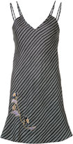 Carven diagonal stripes mini dress - women - Silk - M