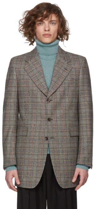 Gucci Multicolor Flanel Fancy Check Blazer
