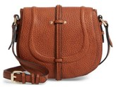 Linea Pelle Classic Faux Leather Saddle Bag - Brown