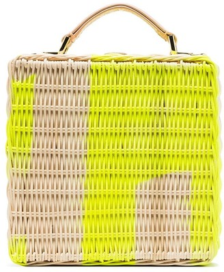 Natasha Zinko straw structured box bag