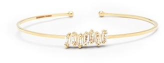 Suzanne Kalan White Topaz & 14kt Gold Cuff Bracelet - Yellow Gold