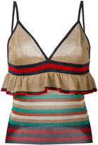 Jucca lurex ruffle vest top - women - Polyester/Viscose/Metallized Polyester - S