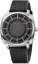 Calvin Klein Men's Swiss Highline Black Rubber Strap Watch 43mm K5M3X1D1