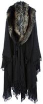 Lanvin oversized fur collar coat
